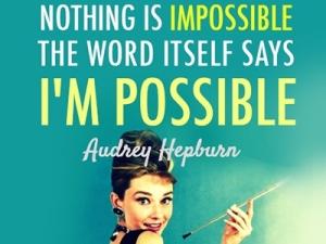Audrey Hepburn positive
